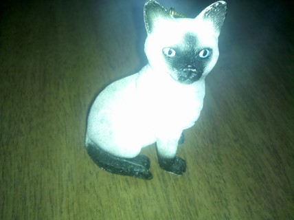 3 inch Siamese Cat Figurine Resin