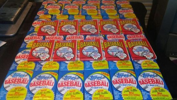 40 1989 Blue Topps Baseball Sealed Packs& 10 1991 Red Fleer Baseball Card Sealed Packs
