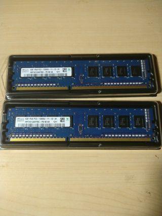 2 x 4GB (8GB) SK Hynix DDR3 RAM