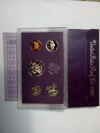 US 1987 UNITED STATES PROOF SET IN ORIGINAL PACKAGING.. THIS SET PRISTINE CONDITION