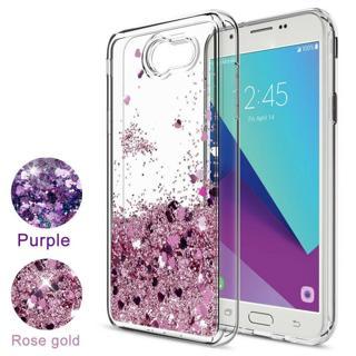 For Samsung Galaxy J3 2017,J3 2018 Case Liquid Glitter Quicksand TPU Phone Cover