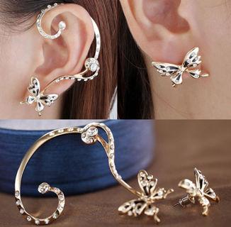 Beautiful Butterfly Cuff Earring Set PayPal