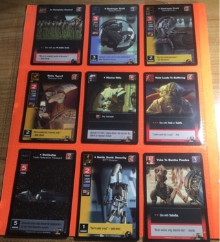9 Star Wars 1999 Young Jedi Cards