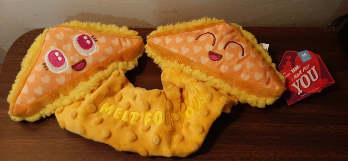 Dog Chew Toy Grilled Cheese NEW NEVER CHEWED