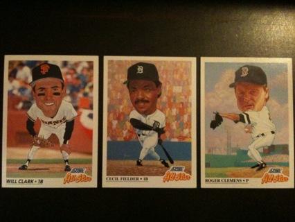 Free 3 Big Head Baseball Cards Trading Cards Listia