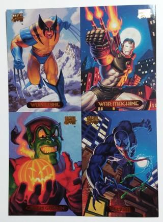 1994 Marvel Masterpieces Uncut 4 Card Promo 5x7