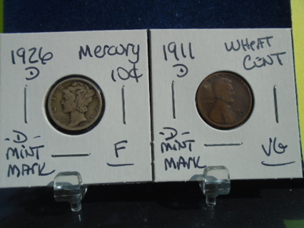 1911-D & 1926-D OLD U.S. COINS FULL BOLD DATES!