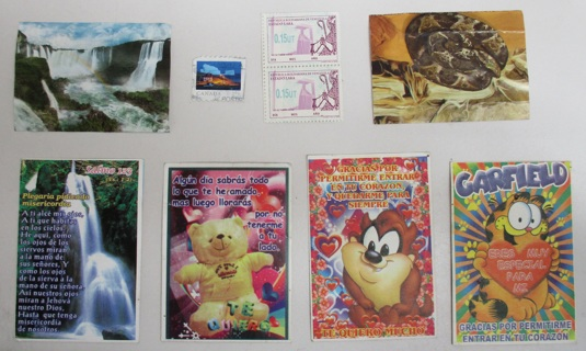 Lot of Items (Valentines Small Cards, Stickers & Stamps)