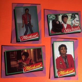 4 Michael Jackson 1984 Cards!