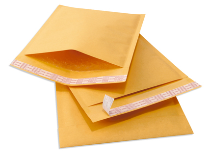 15 DVD Size, #0 Kraft Bubble Mailers 7x10 Self Seal Gin for 25