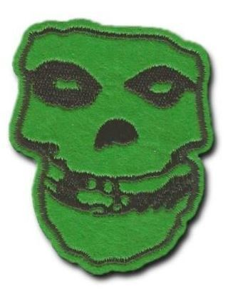 1 Misfits IRON ON PATCH Skull Band Logo Punk Horror Rock HOT TOPIC Embroidered FREE SHIPPING
