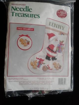 Needlepoint Personalized Christmas Stocking