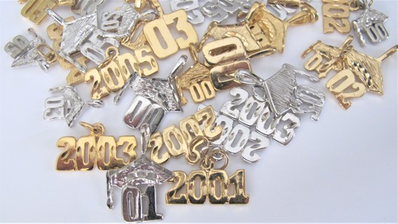 80 Silver & Goldbonded Charms