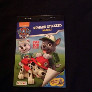 Paw patrol stickers and activity book