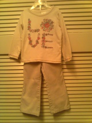 Girls 3T(36 mth) Khaki outfit