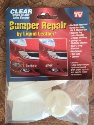 BUMPER REPAIR by Liquid Leather Clear