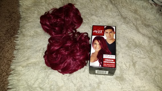 Free Splat Crimson Obsession Red Hair Dye Color Kit Bonus Fake Scrunchie Pieces Punk Goth Hot