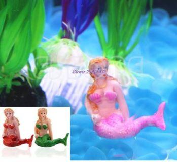 Resin Little Mermaid Aquarium Fish Tank Decorations Ornaments