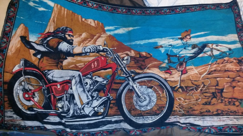 """Free: David Mann's """" Ghost Rider """" cloth tapestry - Other ..."""