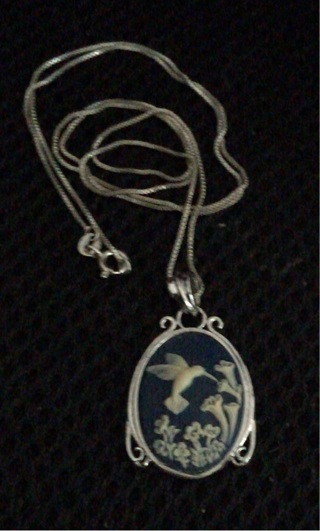 Blue Cameo and chain