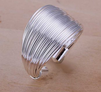 925 Sterling Silver Ring Fine Fashion Multi Line Silver Jewelry Ring