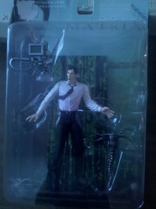 "NEW Matrix movie figure ""Mr Anderson"" Action Figure & Accessories"