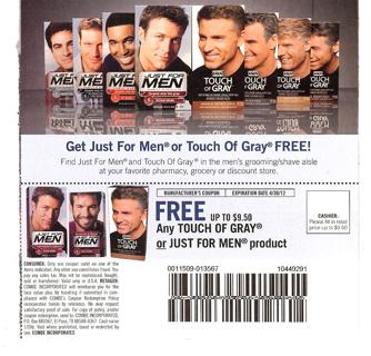 Just For Men Products $ Off! Posted on August 28th, by I Print Coupons Post contains sponsored/affiliate links and I get commissions for purchases made from links.