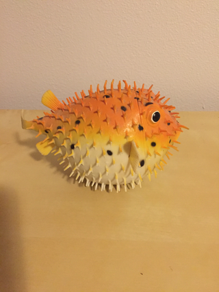 free cute squishy pufferfish bath toy dolls stuffed