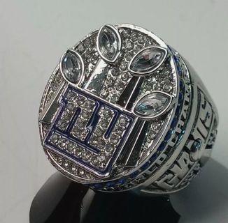 MEN'S SIZE 11 NFL REPLICA 2012 NEW YORK GIANTS SUPERBOWL XLVI RING (ELI MANNING)