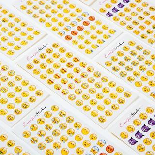 12 Sheets/lot Cute Mini Funny Expression Pvc Transparent Korean Stickers Papers Flakes Kids Decora