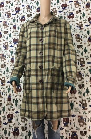 WOMEN'S LONG COAT SOFT PLAID JACKET