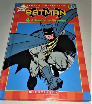 "2005 ""BATMAN 4 Adventure Stories"" hardcover, large print, 153 pages - VG condition"