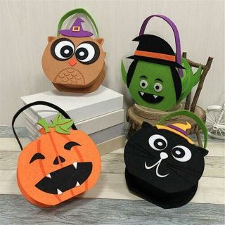 Halloween Candy Tote Bags Horror Pumpkin Cloth Party Kids Gift Bag Storage