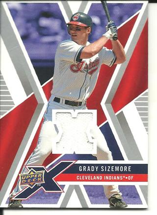 2008 UDX Grady Sizemore jersey card