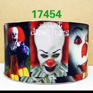 "Pennywise IT Clown Horror 1"" Grosgrain Ribbon 1 Yard NEw"