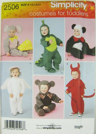 Free: Baby/Toddler Costume Sewing Pattern--***Mouse,Dragon,Bear ...