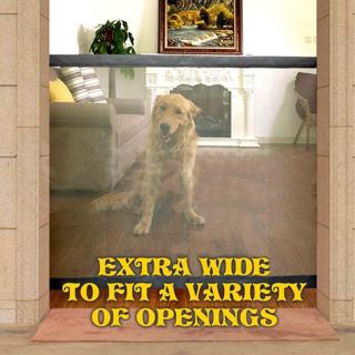 Dog Gate The Ingenious Mesh Pet Gate For Dogs Safe Guard and Install