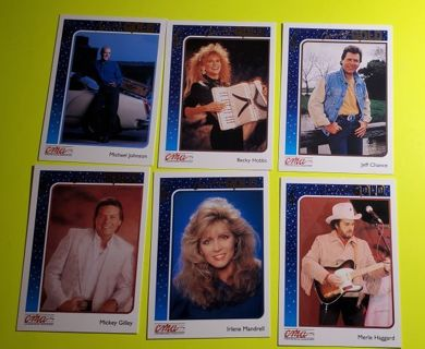 6 Country Gold 1992 CMA Cards
