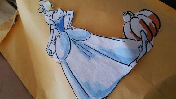 1 Cinderella 1 Belle 1 snow white iron on