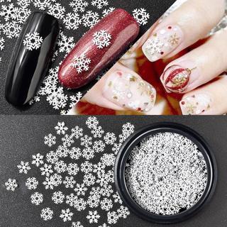 Mix Szie 3 Patterns Nail Art Decoration 1 Box 1.5g XMAS Metal Snowflake Nail Sequins Winter Christ