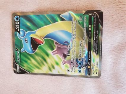 NEAR MINT CONDITION LAPRAS V POKEMON CARD!!