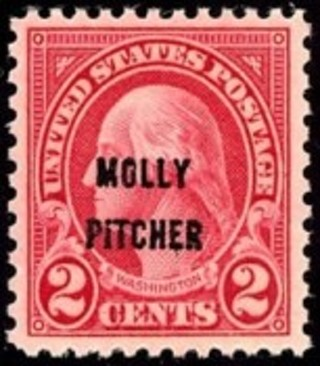 Free: MINT RARE MOLLY PITCHER BATTLE OF MONMOUTH 1928 POSTAGE STAMP