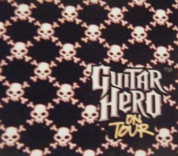 NINTENDO DS black skull Guitar Hero on Tour System Wrap Skin