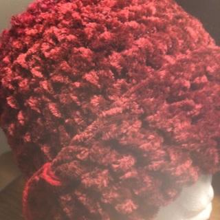 Hand Crochet Burgundy/Velvety Hat