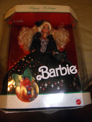 FREE Happy Holidays Barbie 1991 New In Box