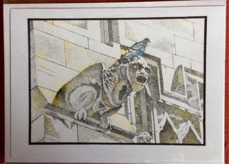 "GARGOYLE -  5 x 7"" art card by artist Nina Struthers - GIN ONLY"