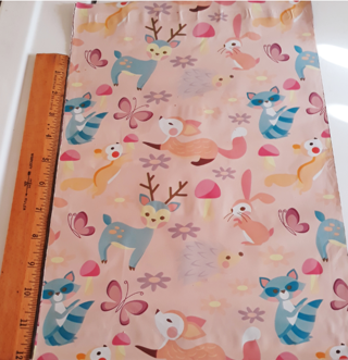 """5 Poly mailers - Woodland Critters Design, 10 x 13"""""""