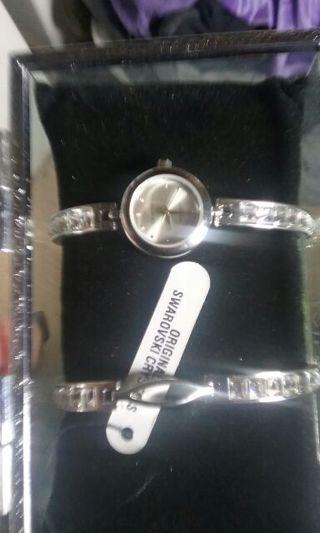 Stainless steak watch bracelet set new