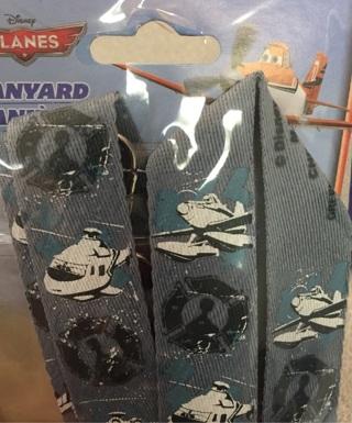 Disney pin lanyard planes new