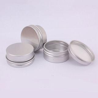 10PCs 15ML Aluminium Cosmetic Empty Jar Pot Bottle Box Container Tin Case Portable